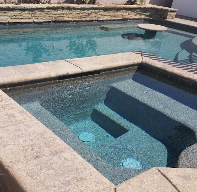 Polished Pools keeping residential pool & spa water looking crystal-clear.